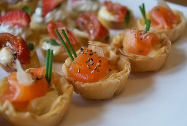 Canape menu sophie martin catering for Canape selection