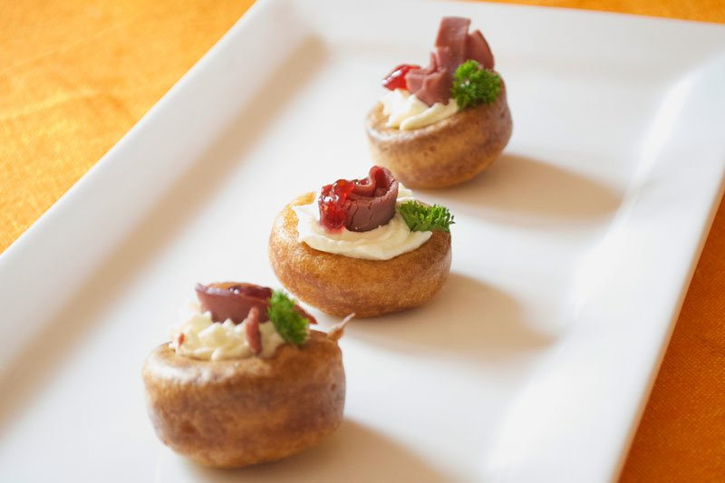 Creme fraiche filling recipe dishmaps for Canape fillings